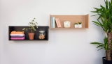 家庭用ホチキスで固定できる石膏ボード壁専用の壁掛収納家具『壁美人シェルティ』のウォールシェルフ