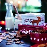 イケア・クリスマスコレクション/VINTER ヴィンテル2016/缶 ふた付き 3個セット レッド/ホワイト/税込799円