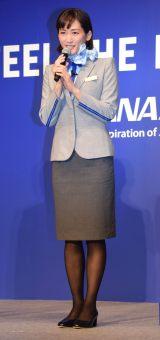 ANA『FEEL THE NEW SKY』プロモーション発表会に出席した綾瀬はるか (C)ORICON NewS inc.