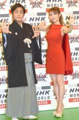(左から)片岡愛之助、サラ・オレイン (C)ORICON NewS inc.