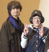 映画『blank13』の舞台あいさつに出席した(左から)斎藤工、永野 (C)ORICON NewS inc.