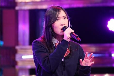 2月25日放送、『今夜、誕生!音楽チャンプ』より。現・歌唱チャンプの琴音さんが2度目の防衛に挑戦(C)テレビ朝日