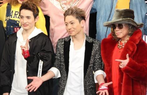 舞台『THE YOUNG LOVE DISCOTHEQUE』囲み取材に出席した(左から)浜中文一、屋良朝幸、m.c.A・T (C)ORICON NewS inc.