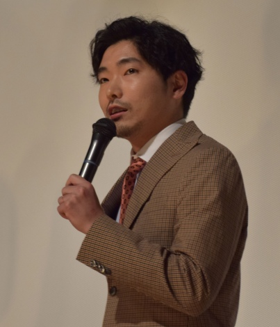 『素敵なダイナマイトスキャンダル』(3月17日公開)の東京プレミア舞台あいさつに出席した柄本佑 (C)ORICON NewS inc.