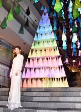 『OMOTESANDO HILLS CHRISTMAS 2017 with Panasonic Beauty』点灯式に出席した佐々木希 (C)ORICON NewS inc.