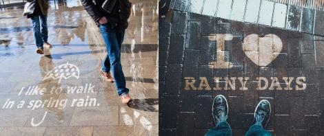 米・シアトル発のフォトジェニックアート「Rainworks(レインワークス)」が横浜に登場
