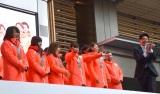 平昌五輪に出場した日本選手団の解団式&報告会に出席したカーリング女子のLS北見メンバー (C)ORICON NewS inc.