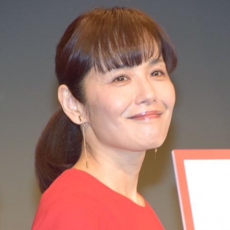 劇場版『めんたいぴりり』の製作発表会見に参加した富田靖子 (C)ORICON NewS inc.