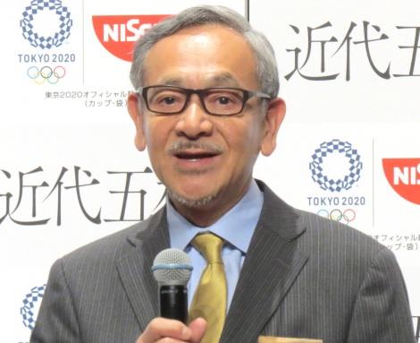 日清食品『東京2020オリンピック競技「近代五種」』応援宣言イベントに出演した日本近代五種協会 野上等専務 (C)ORICON NewS inc.