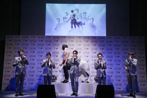 日清食品『東京2020オリンピック競技「近代五種」』応援宣言イベントに出演したゴスペラーズ