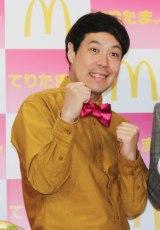 日本マクドナルド『「てりたま食べたら、元気でまっくす!」大声でチャレンジ宣言イベント』に出席したタカ (C)ORICON NewS inc.