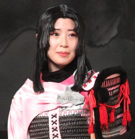 舞台『斬劇「戦国BASARA」第六天魔王』の初日あいさつに出席した高柳明音(SKE48) (C)ORICON NewS inc.