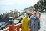 鵜戸神宮を訪れたタモリと近江友里恵アナ(C)NHK