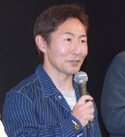 映画『ゴーストスクワッド』初日舞台あいさつに出席した、なべやかん (C)ORICON NewS inc.