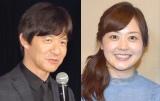 理想の上司ランキングで2連覇を果たした(左から)内村光良、水卜麻美アナ (C)ORICON NewS inc.