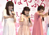 Perfume風の自己紹介をした(左から)優希美青、上白石萌音、広瀬すず (C)ORICON NewS inc.