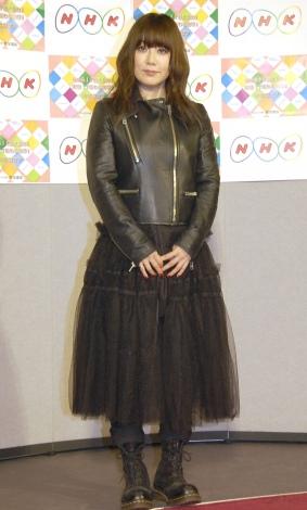 平成30年度『NHK語学番組発表会見』に出席した大貫亜美 (C)ORICON NewS inc.