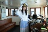 『第63回びわ湖開き』で大型観光船「ミシガン」の一日船長を務めた堀田真由