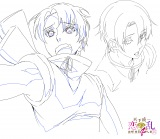 アニメ『天下統一恋の乱〜出撃!雑賀4人衆〜』に登場するキャラクターの雲雀のラフ画(C)ボルテージ