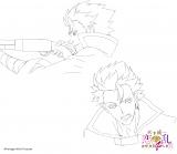 アニメ『天下統一恋の乱〜出撃!雑賀4人衆〜』に登場するキャラクターの鳶のラフ画(C)ボルテージ