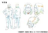 公開された新キャラクターのマグネ設定画(C)堀越耕平/集英社・僕のヒーローアカデミア製作委員会