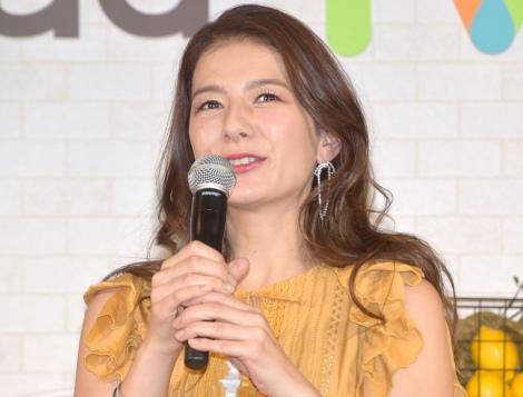 クッキングLIVEアプリ『cookpadTV』PRイベントに出席したスザンヌ (C)ORICON NewS inc.