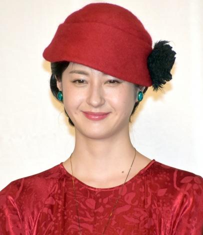 映画『この道』クランクアップ報告会見に出席した松本若菜 (C)ORICON NewS inc.