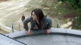 スタントに初挑戦した水沢エレナ。初めてとは思えない身のこなしを披露(C)テレビ朝日