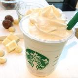 デザート感覚で楽しめる『ホワイト ブリュー コーヒー & マカダミア フラペチーノ』(Tallのみ・税抜590円)