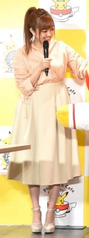 『ポケモンセンタートウキョーDX&ポケモンカフェ』のオープニングセレモニーに出席した菊地亜美 (C)ORICON NewS inc.