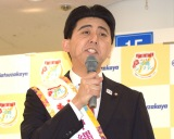 安倍首相に扮したお笑いコンビ・ビスケッティの佐竹正史 (C)ORICON NewS inc.