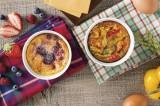 クリスピー・クリーム・ドーナツ新メニュー写真左:『ドーナツ プディング』、右:『ドーナツ キッシュ』