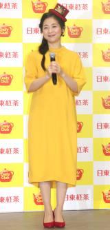 『日東紅茶デイリークラブ50周年記念イベント』に出席した関根麻里 (C)ORICON NewS inc.