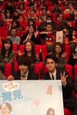 映画『台湾より愛を込めて』舞台あいさつでの(左から)三原慧悟・大野拓朗