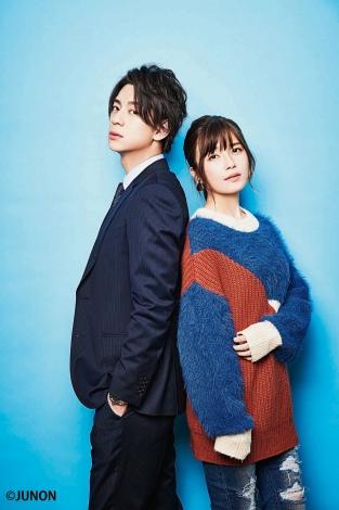 サムネイル 『JUNON』5月号に登場する(左から)三浦翔平、AAA・宇野実彩子