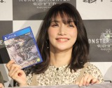 PlayStation4用ソフト『モンスターハンター:ワールド』原宿マルチプレイスポットオープニングイベントに出席した後藤真希 (C)ORICON NewS inc.