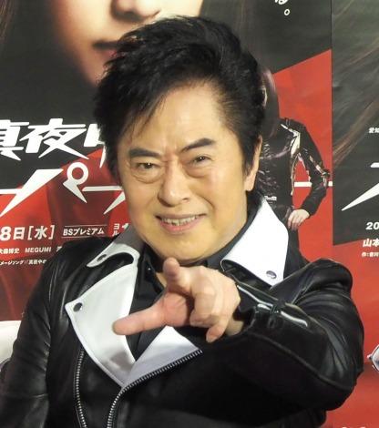 水木一郎「スーパーカーだゼッート!」=NHKドラマ『真夜中のスーパーカー』の取材会 (C)ORICON NewS inc.