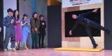 映像配信サービス「dTV」のオリジナルドラマ『配信ボーイ 〜ボクがYouTuberになった理由〜』(24日より7日間連続配信)の完成披露試写イベントで袴田吉彦もスパイダーマンに