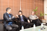 (左から)映画『影踏み』篠原哲雄監督、山崎まさよし、原作者の横山秀夫氏