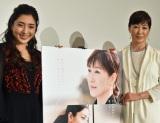 映画『おみおくり』初日舞台あいさつに出席した(左から)高島礼子、文音 (C)ORICON NewS inc.