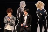 スマホゲー『イケメンライブ』イベントに出席した(左から)深町寿成、大河元気
