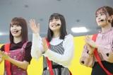 HKT48 1stアルバム『092』大感謝祭より(左から宮脇咲良、松岡はな、岩花詩乃)(C)AKS