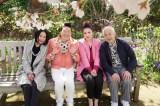 31日放送のフジテレビ系『かたらふ〜語らいまくり旅SP〜』(左から)浅野温子、みやぞん、平野ノラ、小堺一機
