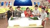 3月29日放送、NHK総合『超体感!エクストリーム・ミッション』スタジオに養殖マグロ登場(C)NHK