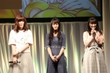 『AnimeJapan 2018』のアニメ『ゆらぎ荘の幽奈さん』のイベントに出席した(左から)加隈亜衣、小倉唯、原田彩楓