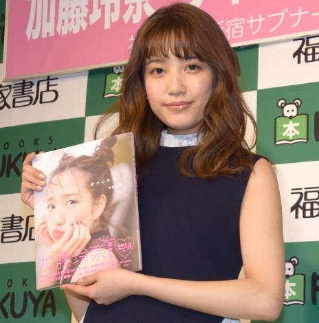 """サムネイル """"ぬいぐるみブラ""""に挑戦した加藤玲奈(C)ORICON NewS inc."""