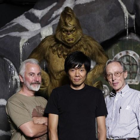『グリンチ』で特殊メイクを担当、リック・ベイカー(左)とディック・スミスとともに