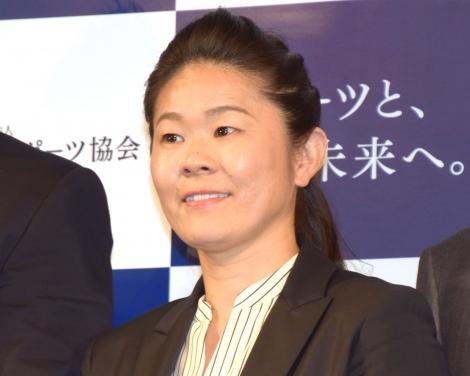 『日本スポーツ協会』名称変更記者発表会に出席した澤穂希さん (C)ORICON NewS inc.
