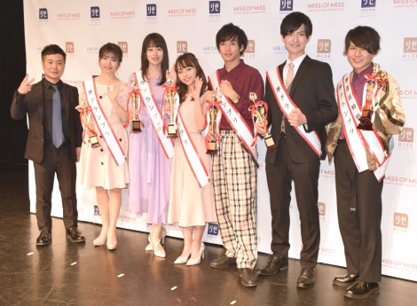 『Miss of Miss&Mr. of Mr.  CAMPUS QUEEN CONTEST2018』各賞受賞者 (C)ORICON NewS inc.