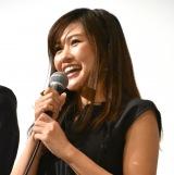 映画『三十路女はロマンチックな夢を見るか?』初日舞台あいさつに出席した秋吉織栄 (C)ORICON NewS inc.